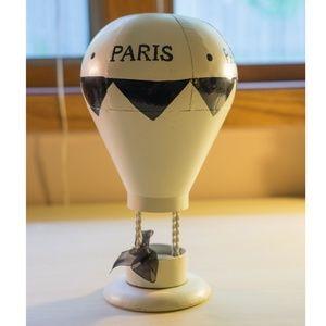 Metal Paris Air Balloon Tealight Candle Holder